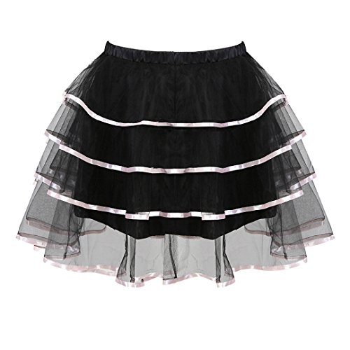 Kranchungel Womens Steampunk Skirt Gothic Victorian High Low Corset Skirt Dress Masquerade Clubwear 4X-Large/5X-Large ()