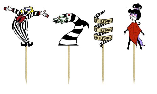 Beetlejuice Themed Cupcake Toppers -