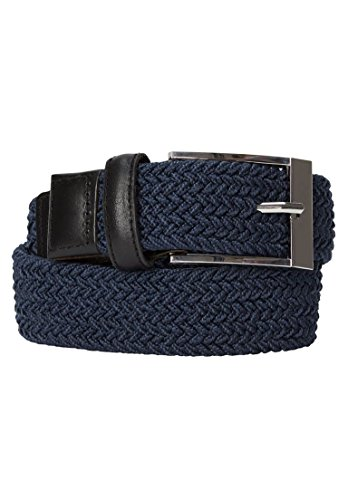 Kingsize Men's Big & Tall Elastic Braid Belt, Navy 40/42