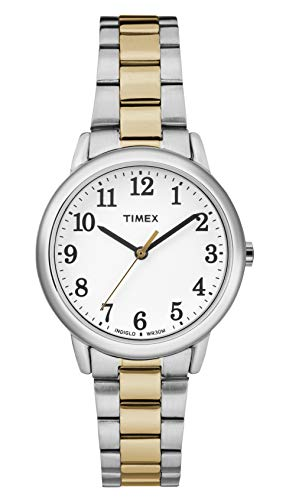(Timex Women's Easy Reader White Dial with a Two-Tone Bracelet Watch TW2R23900)