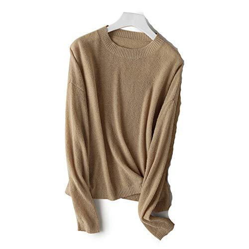 Manica Color Camel Sangni Lunga Sweaters Maglione Women Donna w6A11fztq