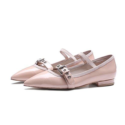 Zapatos de las señoras superficial en primavera/Laversióncoreanadelacorreadepuntiagudosmodahebillasdezapatos/ZapatosbajosdeJoker B
