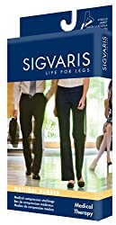 Sigvaris 504nm2o77 Natural Rubber 40-50 Mmhg Open Toe Unisex Thigh High Sock With Grip-top Size: M2