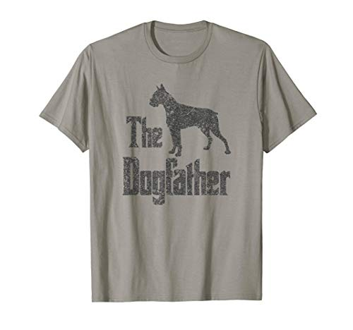 The Dogfather T-Shirt Boxer cropped ears funny dog gift idea ()