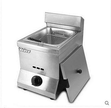 Freidora de gas de acero inoxidable para canasta de tanque comercial: Amazon.es: Bricolaje y herramientas