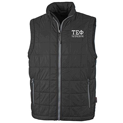(Tau Epsilon Phi Fraternity Radius Quilted Vest Medium Black)