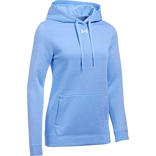 Under Armour Women's UA Hustle Fleece Hoodie (Medium, Carolina Blue)