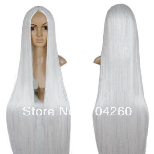 [Smile Anime Hakuouki Okita Souji long white Cosplay Wig costume wigs] (Okita Souji Cosplay Costume)