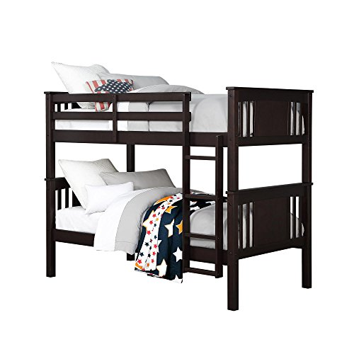 Dorel Living Dylan Bunk Bed, Twin, Espresso