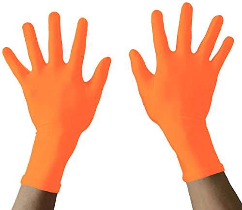 - Seeksmile Adult Lycra Spandex Gloves Many Colors Available (Free Size, orange)