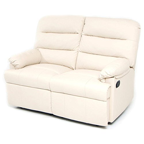 Sofá reclinable relax de 2 plazas, color crema: Amazon.es: Hogar