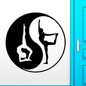 wangpdp Yoga Club Sticke Tai Chi Decal Posters Tai ji Vinilo ...