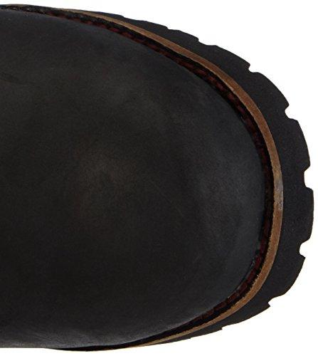 Dachstein Natalja - botas de caño bajo de cuero mujer negro - Schwarz (Schwarz 1300)