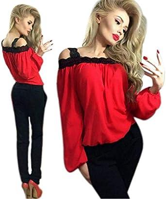 Camisas Mujer Tallas Grandes, Levifun Moda Camiseta Striped De Mujer chifón Blusas de Oficina de Manga Larga Lisa de Mujer Elegantes de Vestir Fiesta Camisetas Chica: Amazon.es: Ropa y accesorios
