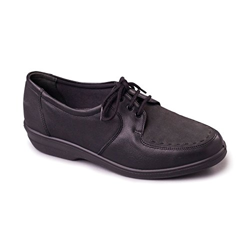 Leather Ee 30mm 'aster' Women's Free In Scarpa Ee Tallone Heel Forma Uk In 'aster' Delle Millimetri Wide Extra Shoe Black Fit Pelle Padders Donne Padders Nero Larga Uk Corno Footcare Scarpa Horn 30 Extra Footcare Shoe Libero 5TndxqRwvR