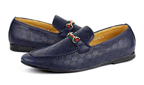 À Hommes Détails Tailles Décontracté Chaussures Italien Mode Mocassins Marine Enfiler About Cuir Bleu Jas Simili FwB4F