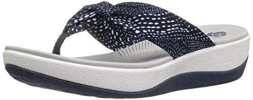 Clarks Women's Arla Glison Flip Flop, Navy White Dots Fab...