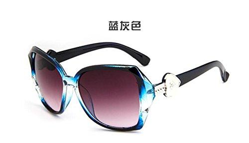 retro películas lifting en sol color Versión gafas en de salvaje Grey sol gafas GLSYJ personalidad LSHGYJ coreano moda de Blue gafas sol las de nqUI0Ya