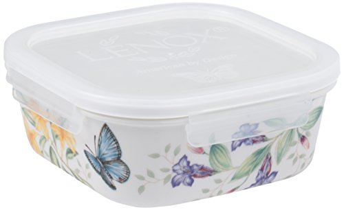 (Lenox Butterfly Meadow Serve and Store Container Bowl, Square)