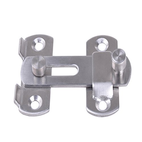 Luwu-Store Hasp Latch Stainless Steel Hasp Latch Lock Sliding Door Lock for Window Cabinet Fitting