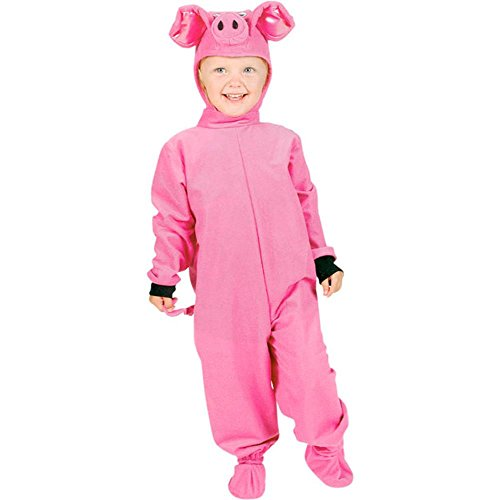 [Kid's Pig Halloween Costume (Size: Small 4-6) by Fun Plus] (Pig Costume Nose Ears Tail)