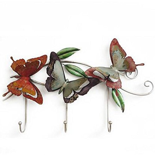 NingNing NN Hook - Mediterranean Wrought Iron Decoration, Creative Coat Hook, Coffee Shop Clothing Store Corner Flower Beauty Utility Hook (Size 30X55CM) Furniture Decoration