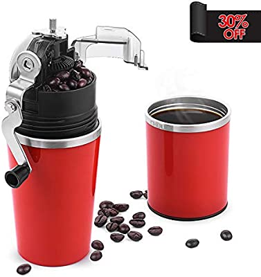 CHULUX Molinillo de café manual cafetera para Espresso, sistema todo-en-uno con filtro, molinillo de café de regalo Rojo: Amazon.es: Hogar