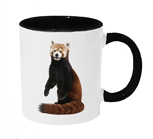 Red Panda Peeking Coffee or Tea 11oz Mug - Perfect Gift for Panda and Animal Lovers by Dark Spark Decals