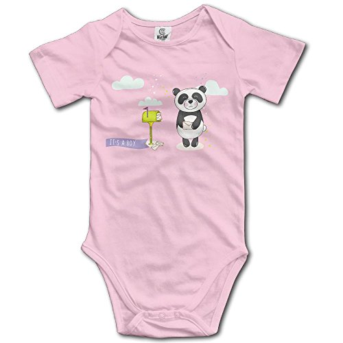 RainSea Baby's Panda With Mailbox Short-Sleeve Bodysuits - Flamingos Watch Online Pink