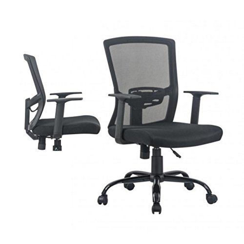 Ergonomic Mid-back Mesh Office Computer Chair Soft Sponge Upholstery 360 Degree Swivel Home Office Gaming Desk Task Executive #1500b (Manchester Swivel Desk Chair)