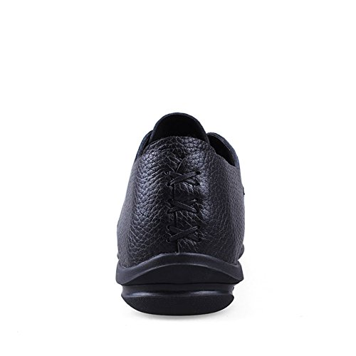 nero Pelle Loafers Traspirante Studio Guida Piatte di Scarpe Casuale Mocassini Eleganti On Nero da SK Scarpe da Uomo Barca Slip dnH0SxRRW