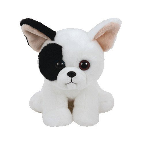Ty 41203Marcel-Dog White/Black, 15cm, Beanie Babies