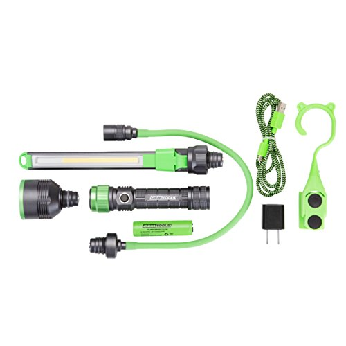 OEMTOOLS 24648 Modular Work Light All-in-One Flexible Extension UV Inspection Attachment Mechanics Rechargeable Lightweight Drop Resistant Flashlight