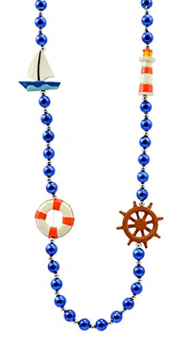Boat Bead (Son of a Sailor Mardi Gras Bead Necklace Luau Beach Boat Wheel Light House Life Ring)