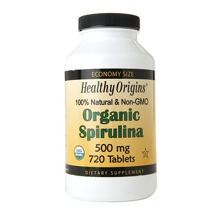 Healthy Origins Organic Spirulina 500mg, Tablets - 3PC