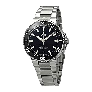 Oris Aquis Reloj automático de acero inoxidable para hombre con esfera negra 01 733 7732 4134-07 8 21 05PEB 10