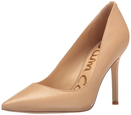 Sam Edelman Women's Hazel Dress Pump, Classic Nude Leather, 9 Wide US by Sam Edelman