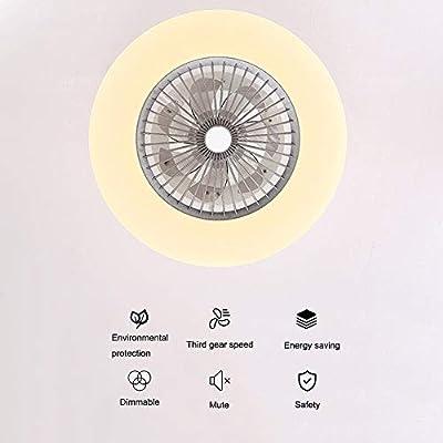 H20cm Deckenventilatoren Mit Beleuchtung 36W Creative Invisible Fan LED-Deckenleuchte Fernbedienung Dimmbar Ultra-leise Kann Timing Fan Kronleuchter Modernes Wohnzimmer Schlafzimmer Fan Lampe /Φ58