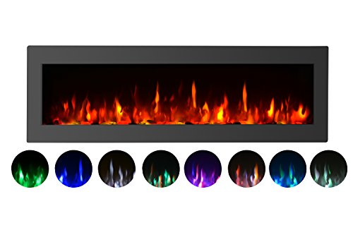 GMHome 40 Electric Fireplace Wall Mounted
