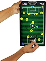 Prancheta Tática Magnética de Futebol de Campo Dupla Face