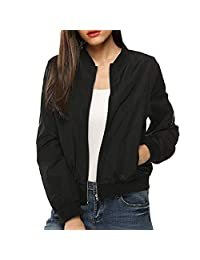 Paymenow Clearance Womens Coat 2018 Quilted Jacket Bomber Jacket Coat Crop Tops