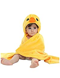BOwith Baby Boys Girl's Animal Fleece Cloak Blanket Toddlers Flannel Hooded Cloak