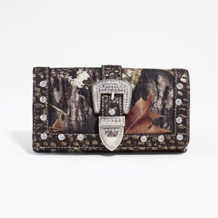 LICENSED Mossy Oak Camoflage Wallet w/Rhinestone MT1-W0342