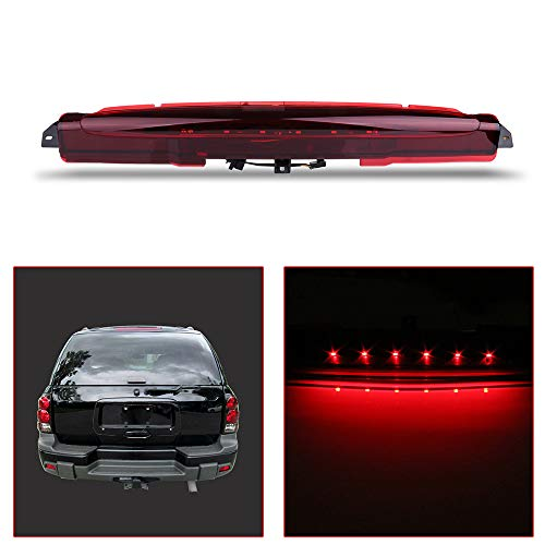 (OCPTY Third 3rd High Mount Brake Light LED 3rd Light Replacement Rear Roof Light for 2004-2007 Buick Rainier 2002-2009 Chevrolet Trailblazer 2002-2009 GMC Envoy Excludes XUV 2003-2008 Isuzu Ascender)