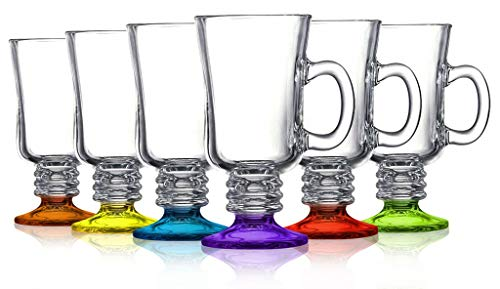 Irish Coffee Mug colored accent Party Color Set of 6