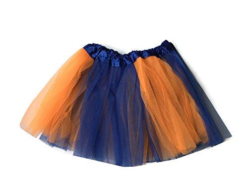 Rush Dance Colorful Kids Girls Ballerina Dress-Up Princess Costume Recital Tutu (One Size, Blue and Orange (Nemo)) ()