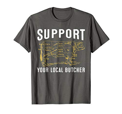Support Your Local Butcher Tshirt - Cow (Buy Local Tshirt)