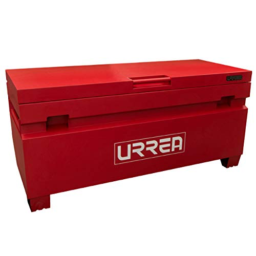 "URREA Job Box - 60"" Jobsite Tool Storage Chest with Heavy-Duty Steel Contruction & 1323lb Total Load Capacity - JSB60"