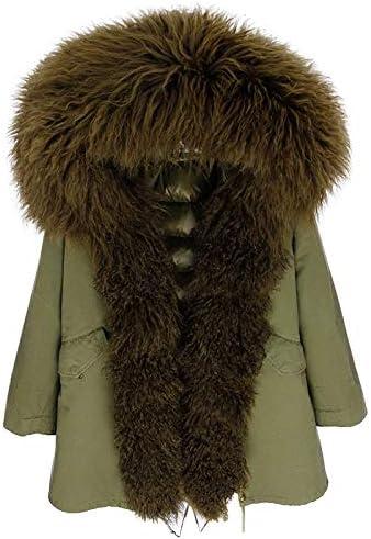 JIANYUXIN Manteau Doudoune Manteau en Peau d'agneau Manteau d'hiver À Capuche en Peau De Mouton Coral-Red-XXL