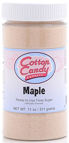 Cotton Candy Express Floss Sugar Candy, Maple, 11 Ounce